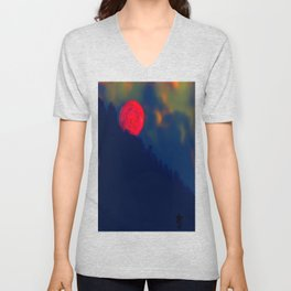 Red Moon Unisex V-Neck