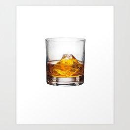 Watercolor Whisky Art Print