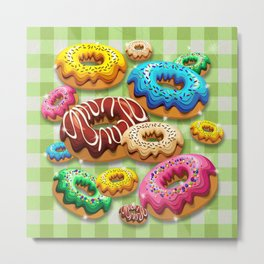 Donuts Party Time Metal Print