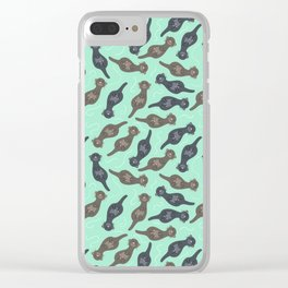Happy Cute Otters Clear iPhone Case
