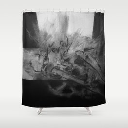 Mechanics Sketch #1 Shower Curtain