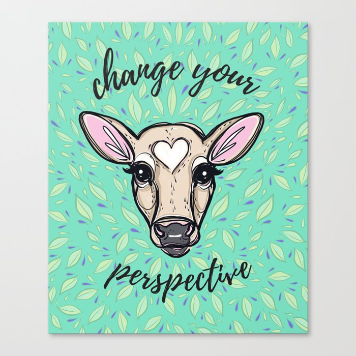 Change Your Perspective Tan Baby Cow Canvas Print