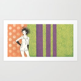 A Sea of Hair: Urchin Art Print