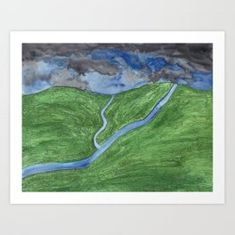 Dusk Over the Valley Art Print