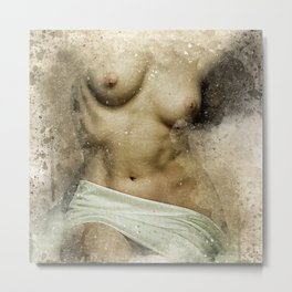 Venus. Nude woman watercolor Metal Print