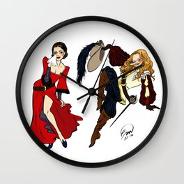 Happy Frasierween ~ Daphne and Niles Wall Clock