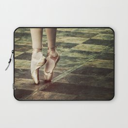 Dancing in the street. Feet of a ballet dancer. Laptop Sleeve