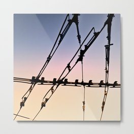 Network Metal Print