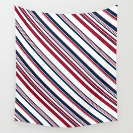 Red and Blue Stripes Wall Tapestry