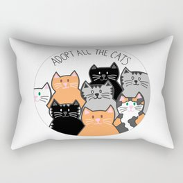 Adopt all the cats Rectangular Pillow