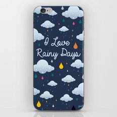 I love Rainy Days iPhone Skin