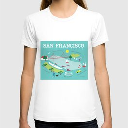 San Francisco, California - Collage Illustration by Loose Petals T-shirt