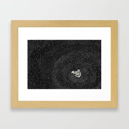 ALONE AT NIGHT Framed Art Print
