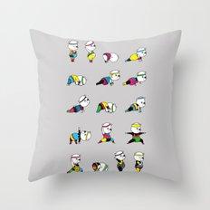 Yoga Bear - 80's Remix Throw Pillow