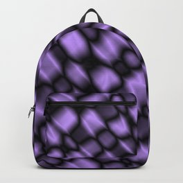 Intersection of pastel drops of a blackberry grid of dark cracks on glass. Backpack