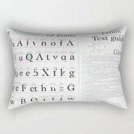 Anatomy of Fonts Rectangular Pillow