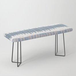 Tribal Watercolor Stripes Bench