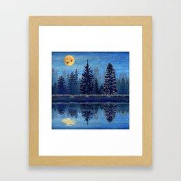 Denim Design Pine Barrens Reflection Framed Art Print