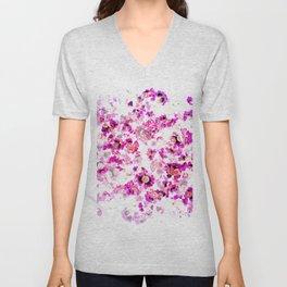 Floral Haze Unisex V-Neck