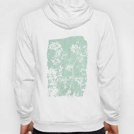 Mint Green Paint Stroke of Tree Foliage Hoody