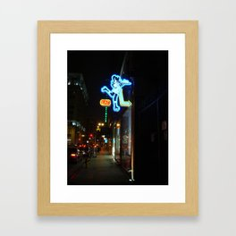 Neon Sign Roller Girl Los Angeles Framed Art Print