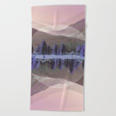 Mountain Mirror Beach Towel