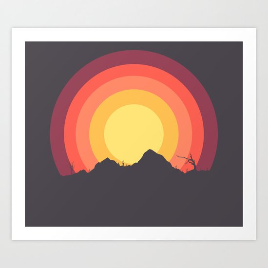 Mountain Sunset Art Print