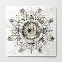 Moon Mandala Metal Print