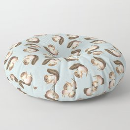 squirrel pattern Floor Pillow