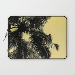 High palms poster in yellow Laptop Sleeve