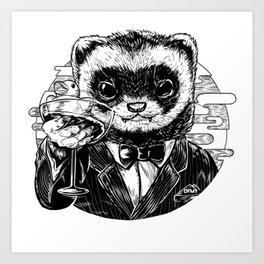 Ferret Business Art Print