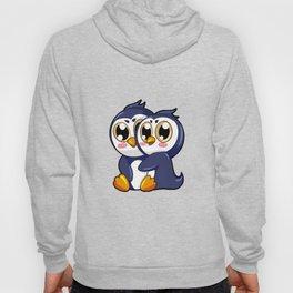 Penguin Couple Cartoon Relationship gift present Hoody
