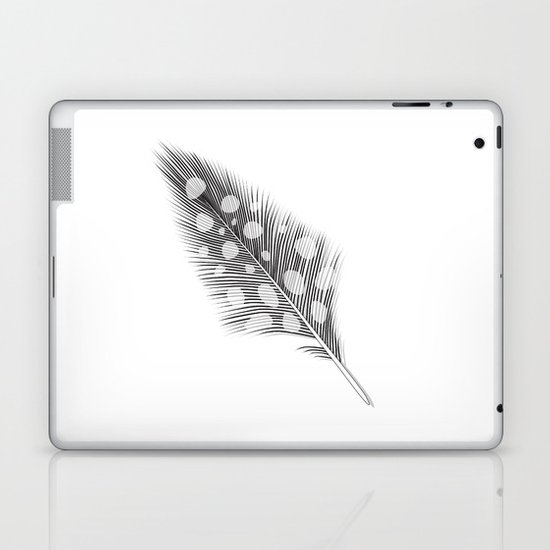 Polka Dotted Feather Laptop & iPad Skin