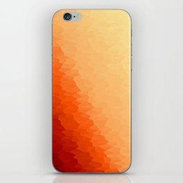 Orange Texture Ombre iPhone Skin