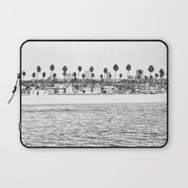 Vintage Newport Beach Print {4 of 4} | Photography Ocean Palm Trees B&W Tropical Summer Sky Laptop Sleeve