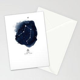 Zodiac Star Constellation - Libra Stationery Cards
