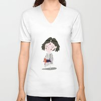princess mononoke V-neck T-shirts featuring Princess Mononoke by Rod Perich