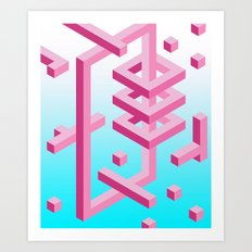 Isometric Adventure Art Print