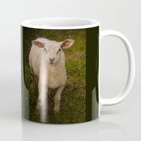 lamb Mugs featuring Lamb by Guna Andersone & Mario Raats - G&M Studi