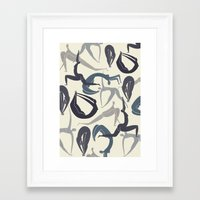 yoga Framed Art Prints featuring Yoga by Lucy Feebs
