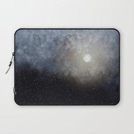 Glowing Moon in the night sky Laptop Sleeve