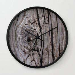 Wood Knot Wood Texture Wall Clock