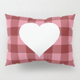 Buffalo Plaid: Heart Pillow Sham