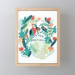 Mom's Hug Framed Mini Art Print