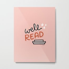 Well Read - Blush Colorway Metal Print