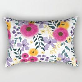 Spring Floral Bouquet Rectangular Pillow
