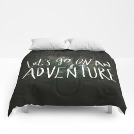 Let's Go on an Adventure Comforters