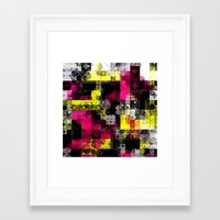 contemporary Framed Art Prints featuring Contemporary Geometric by Idle Amusement