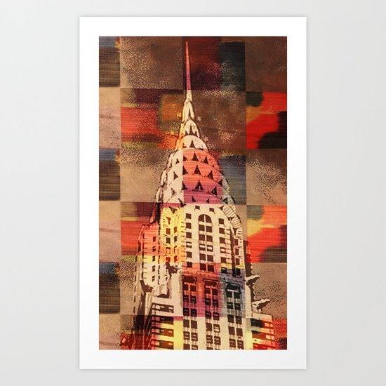 The Checkered Chrysler Art Print