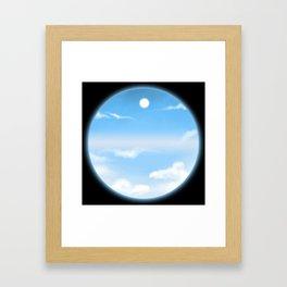 World Within Me - Blue Framed Art Print